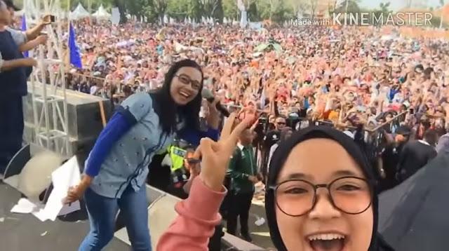 Massa Pecahh! Sabyan Gambus Salam 2 Jari, Gus Yusuf Ajak Warga Jateng Pilih Sudirman-Ida
