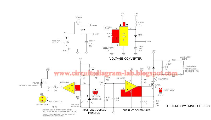 Simple 1 Amp Current Injector Circuit Diagram
