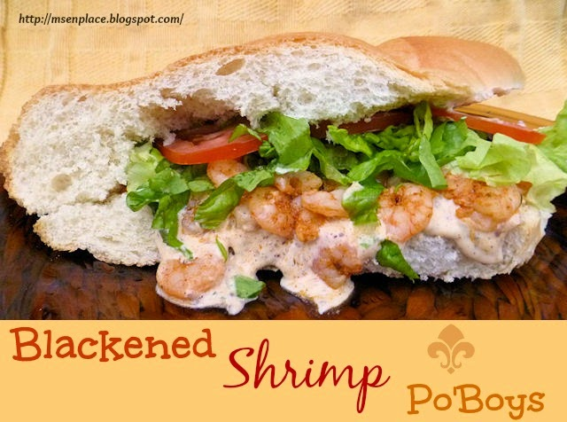 Blackened Shrimp Po'Boys