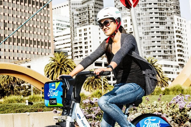 Ford pedaling united to bike share