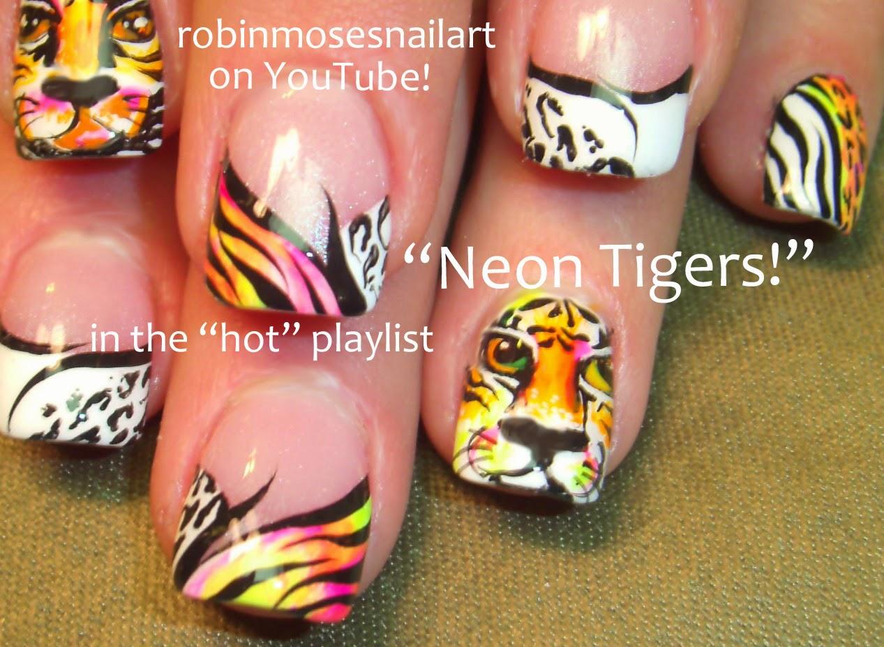 """Robin Moses Nail Art: """"neon nail art"""" """"neon fire"""" """"nail ..."""