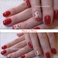 Unhas decoradas Francesinha - Filha Única - floral