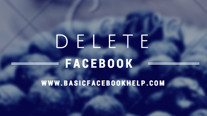 How To Delete Your Facebook Account (Facebook ID) Permanently ( English )