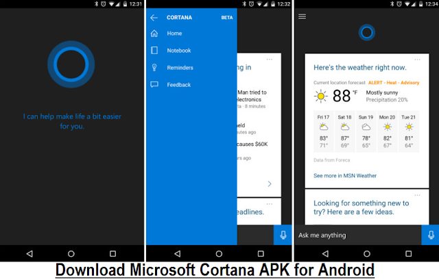 Download Microsoft Cortana APK Free Latest File for Android Phones, Tablets - Direct Link