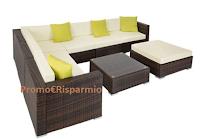 Logo TecTake: vinci gratis set lounge da giardino Marbella del valore di 594,99 €