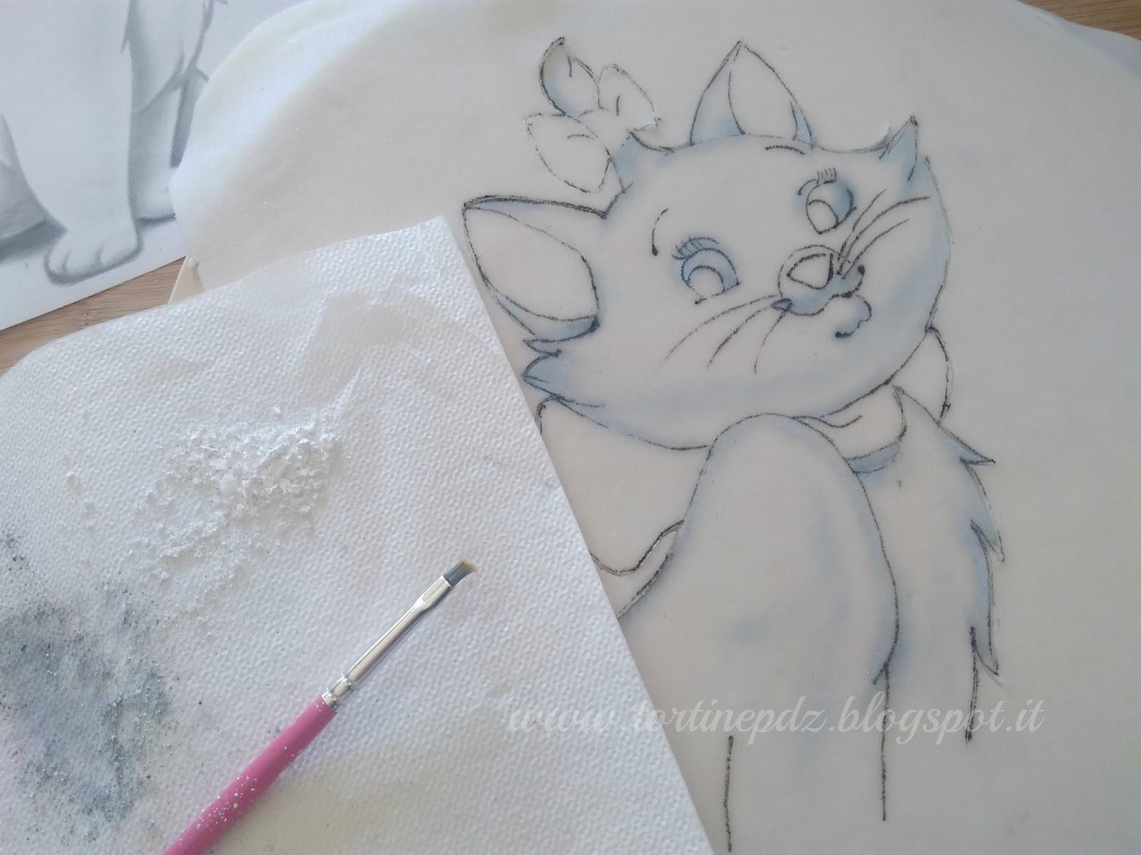 Conosciuto Tortine&Co.: Disegnare su pasta di zucchero - torta Minou AS79