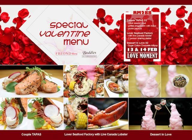 Freond Tavern's Special Valentine Menu @ RM288 nett