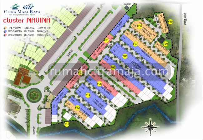 Site Plan Cluster NAVINA RE Citra Maja Raya 2