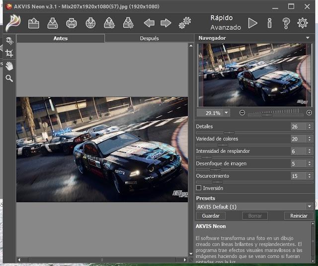 AKVIS Neon 3 imagenes