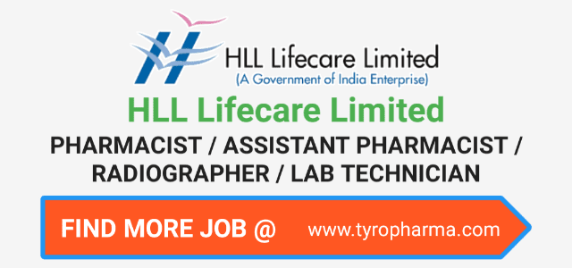 HLL Lifecare Limited Recruitment | Walk In for Pharmacist, Lab Technician, Project Coordinator