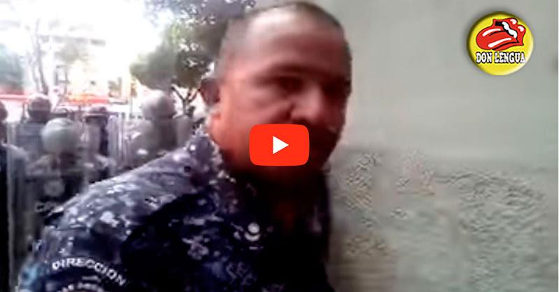 Malandros de la PNB le caen a bombazos a los estudiantes de la UCV
