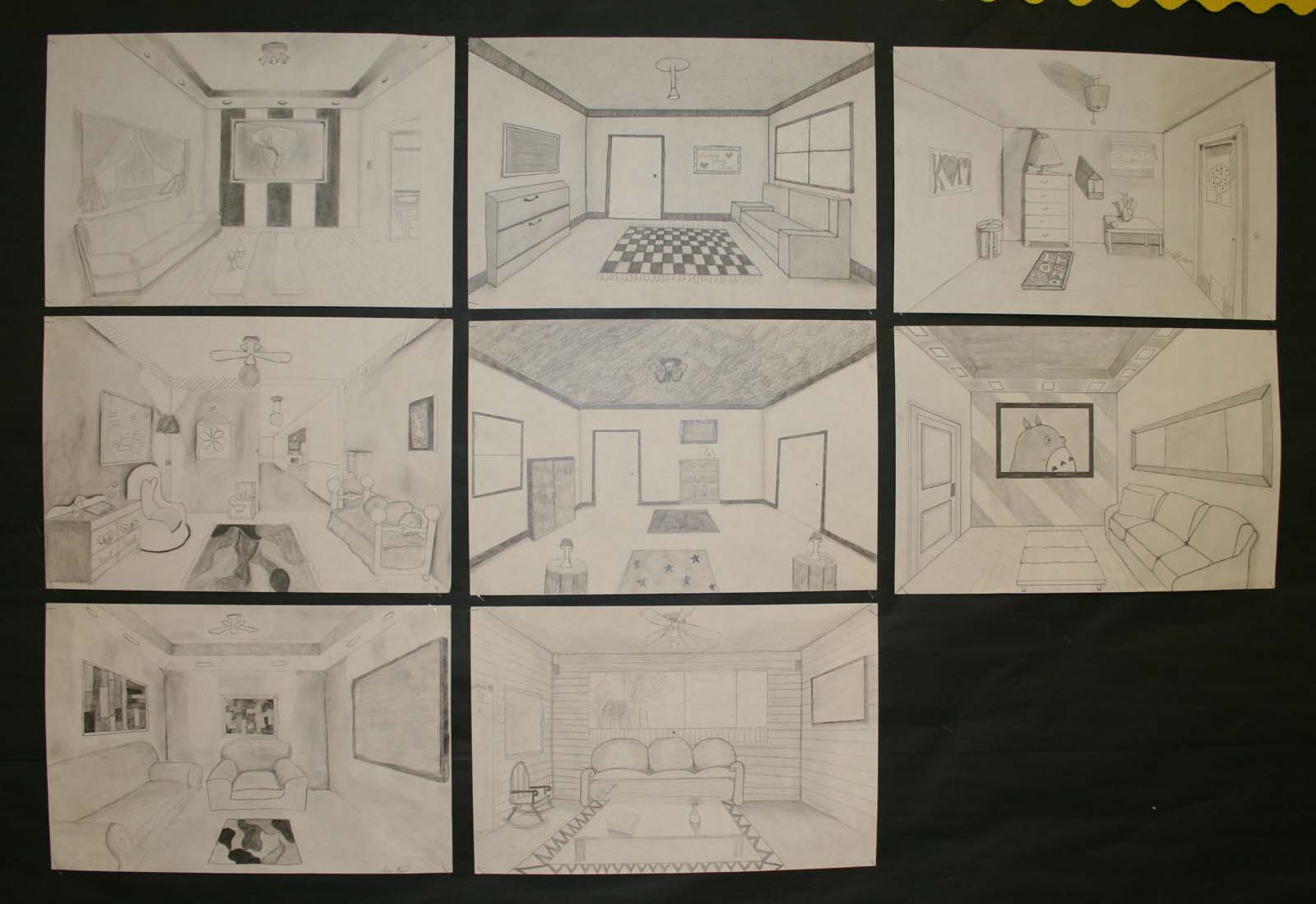 open door drawing perspective point perspective graphite pencils mrs macres art class one point perspective drawing