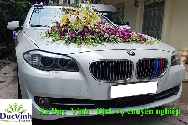 Cho thuê xe cưới BMW523i màu trắng