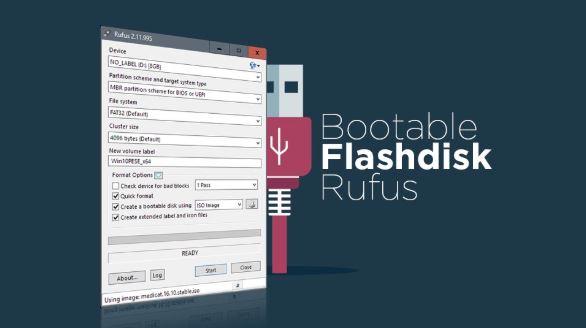 Cara Burning File ISO Ke Flashdisk Dengan Menggunakan Rufus Terbaru