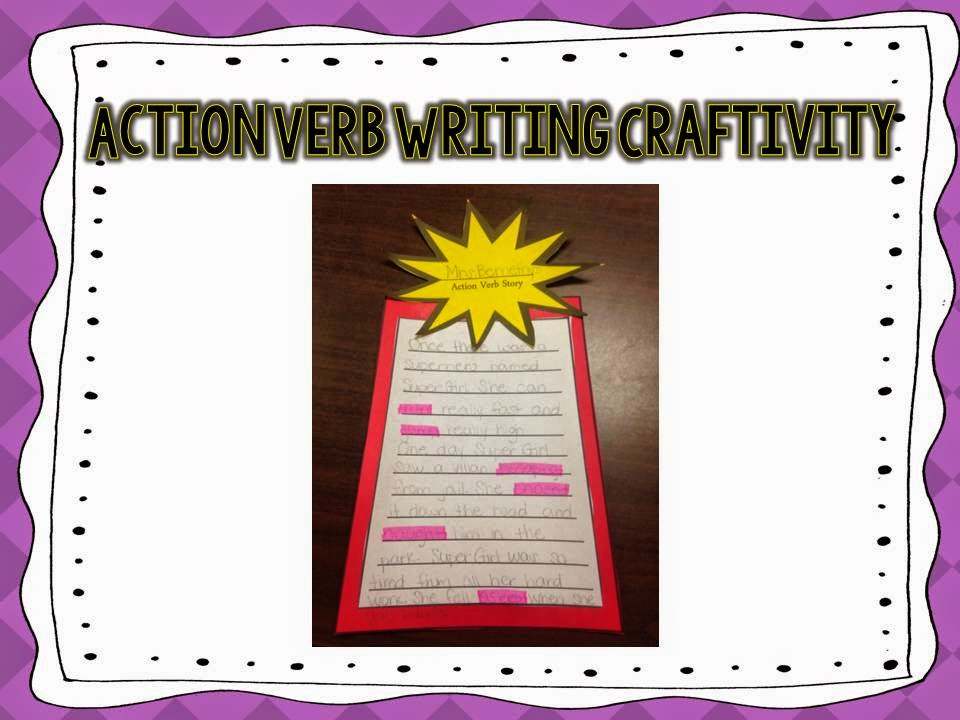 Action Verb Writing Craftivity by Saddle Up For 2nd Grade