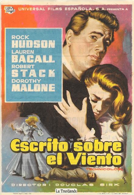 Escrito sobre el Viento - Programa de cine - Rock Hudson - Lauren Bacall