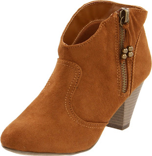 Brown cowboy ankle boots