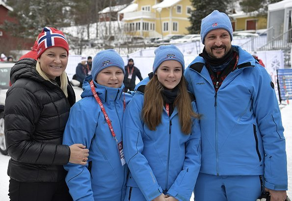 Crown Prince Haakon, Crown Princess Mette-Marit and Princess Ingrid-Alexandra