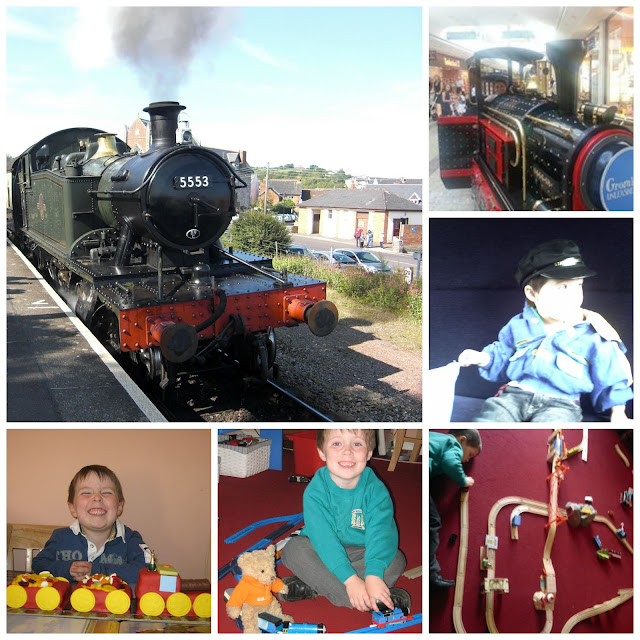 Boy and train pictures