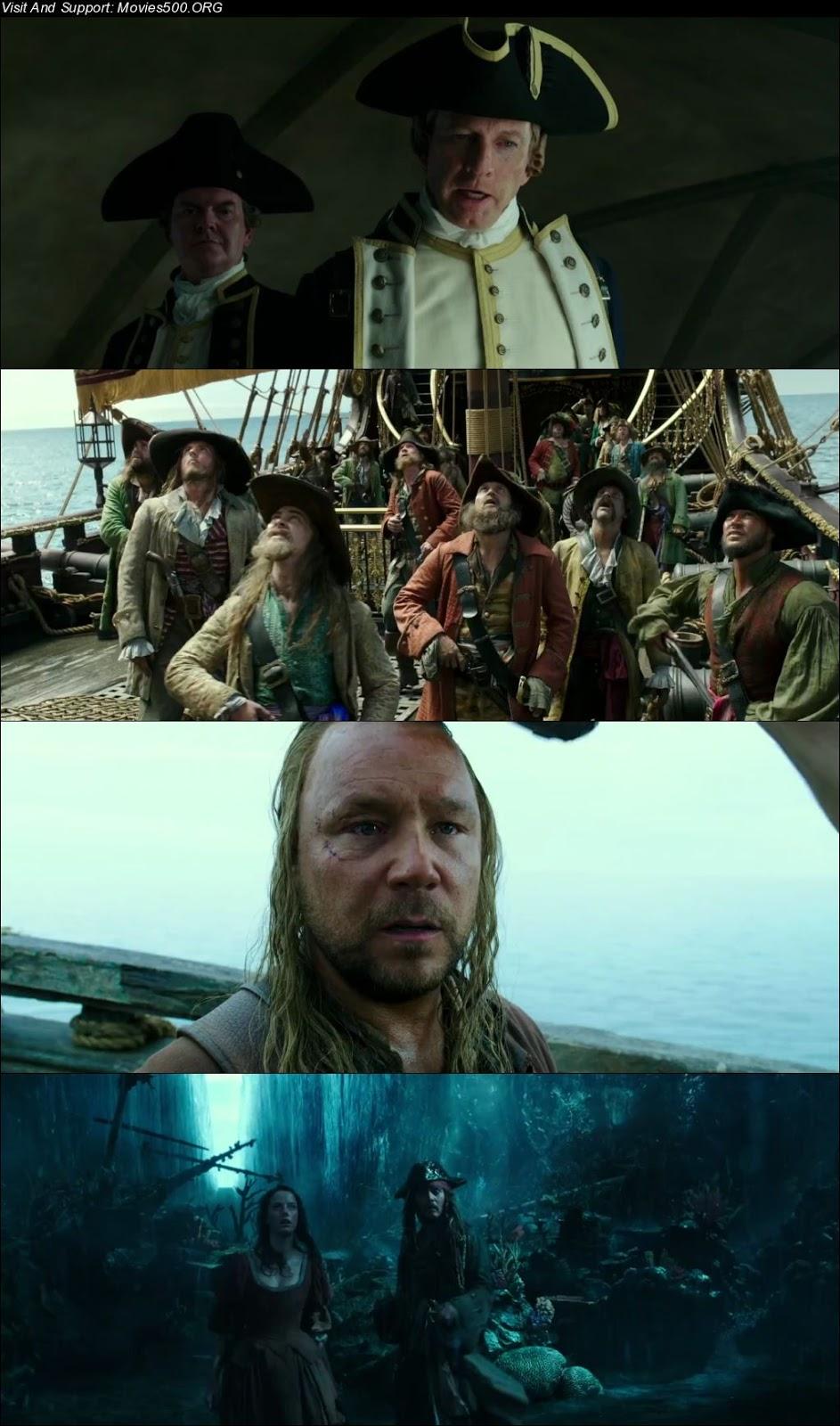 Pirates of the Caribbean Dead Men Tell No Tales 2017 Hindi 300MB HDRip 480p at movies500.site