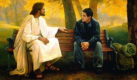 Resultado de imagem para jesus e o jovem