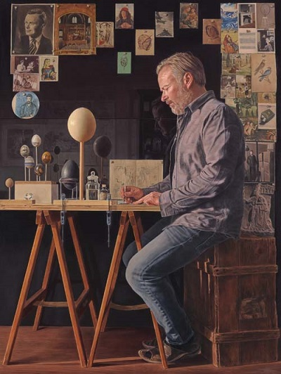 """The Oolographer - in his study"" - by JJ (Jeremy) Delvine 