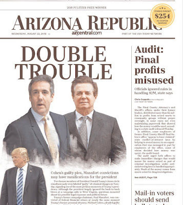 excerpt from Ariz Republic front page Aug 22 2018