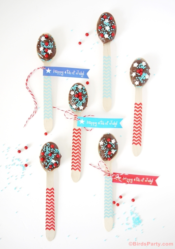 4th of July Free Party Printables Tags - BirdsParty.com