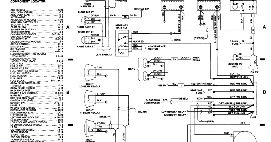 1990 Chevrolet Pickup K1500 Wiring Diagrams | Schematic