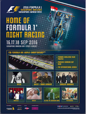 Flyer F1 GP Singapore - Singapore Grand Prix Formula 1 Marina Bay Night Race - SALIKA