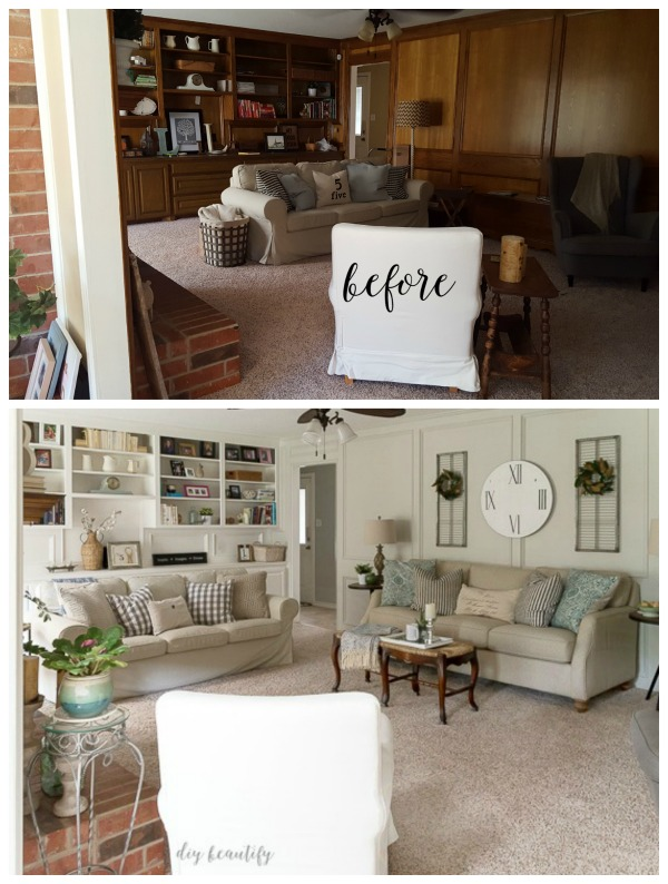 The Tale Of An Ugly Living Room Diy Beautify Creating