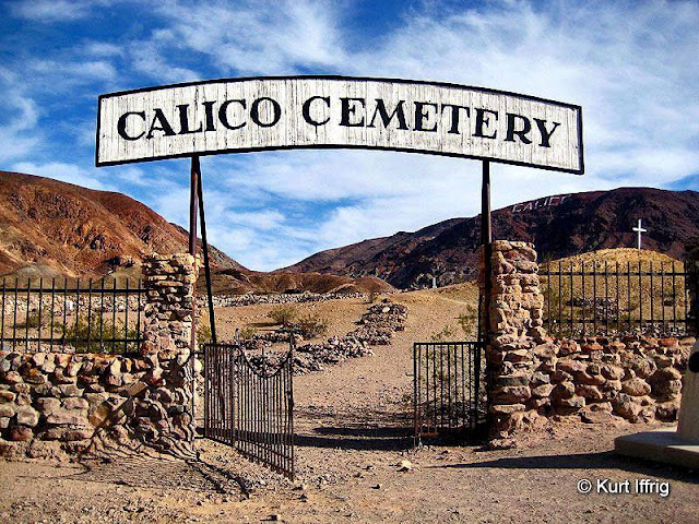 It' has been nearly impossible to determine who rests in Calico's cemetary, after vandalism and looting for the graves.