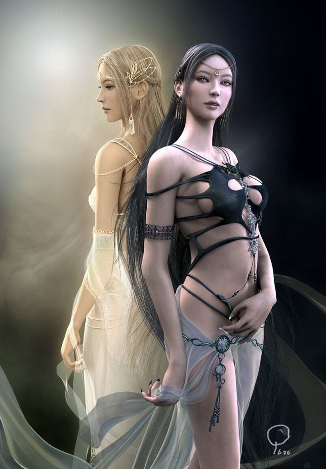 Beautiful 3D Fantasy CG Girls