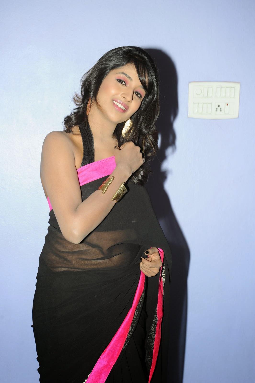 Isha Ranganath glam pics in saree-HQ-Photo-2