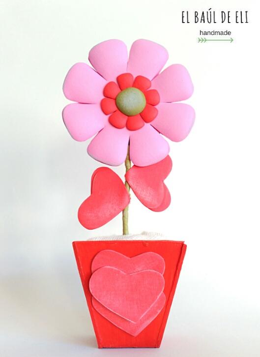 maceta, flor, gomaeva, DIY