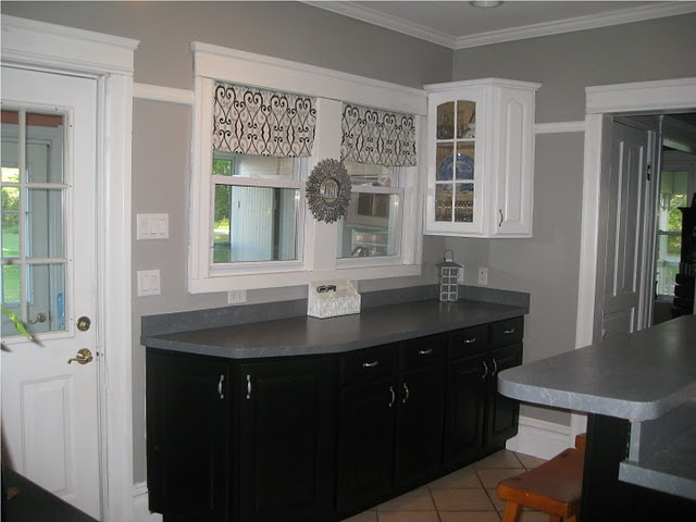grey painted kitchen cabinets remodelaholic a few updates make all the difference 16112