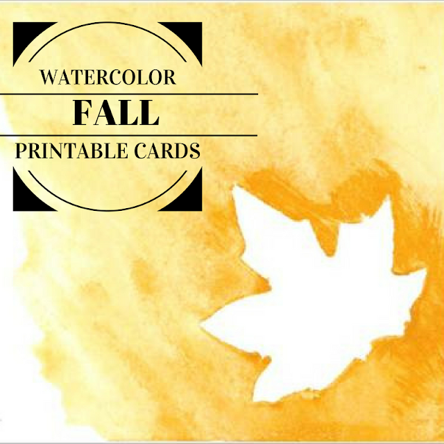 Watercolor Fall Printable Cards