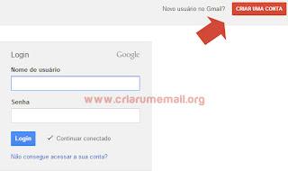 Criar um email no GMAIL
