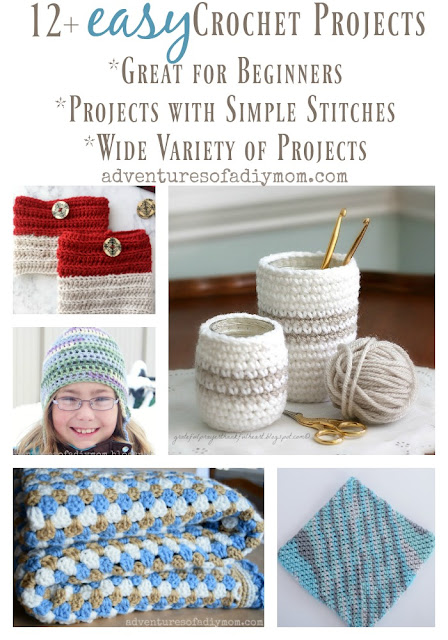 12+ easy crochet projects collage
