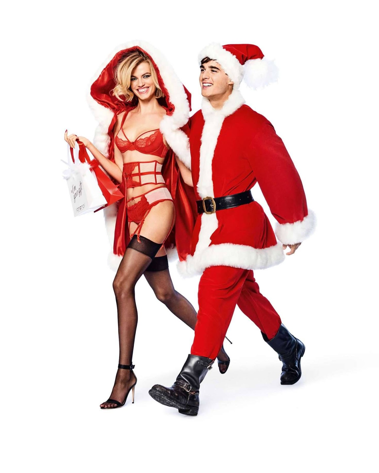 Yamamay Christmas Latest Collection starring Hailey Clauson