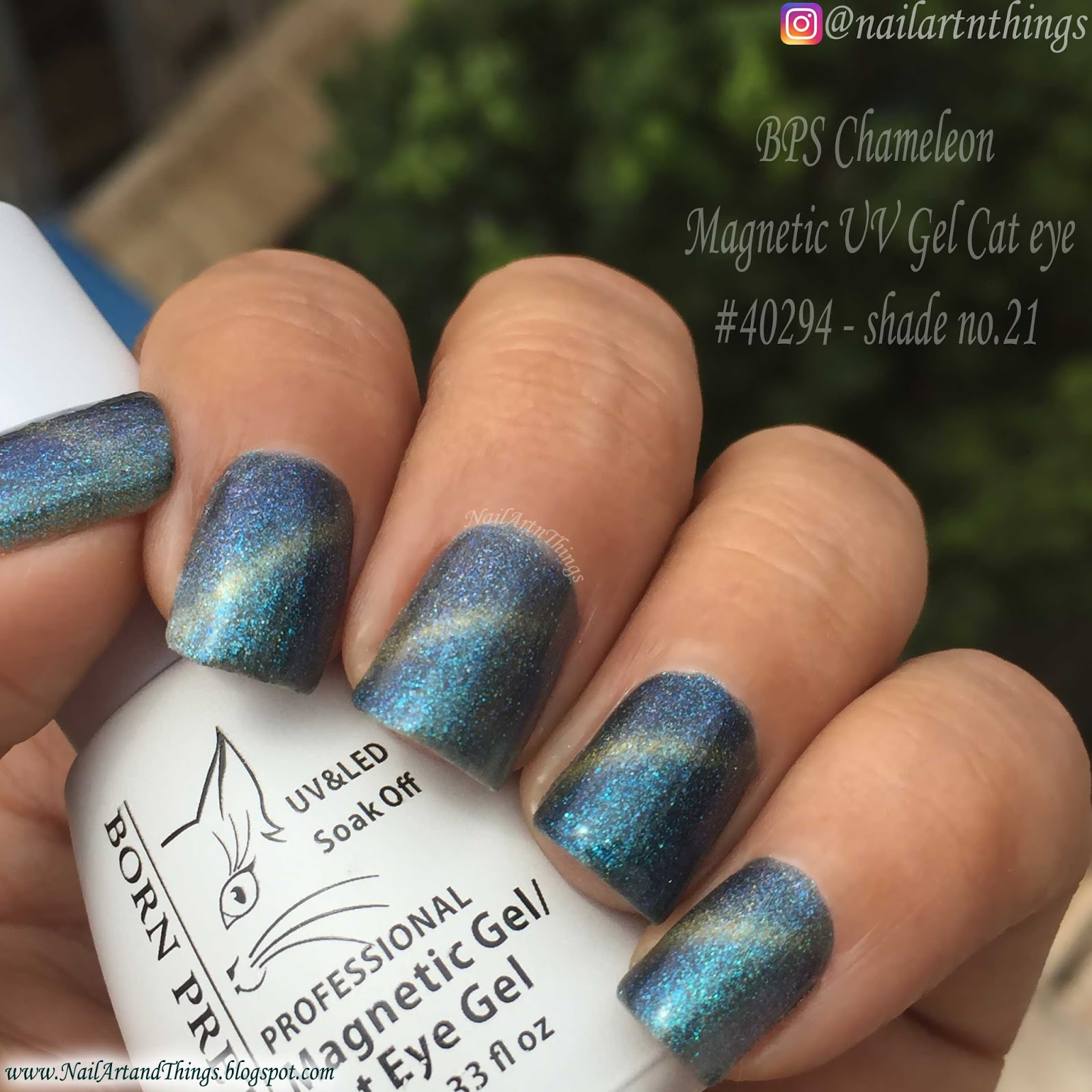 NailArt and Things: Swatch and Review: BPS Chameleon Magnetic UV Gel ...