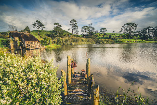 Reflections on the lake Hobbiton