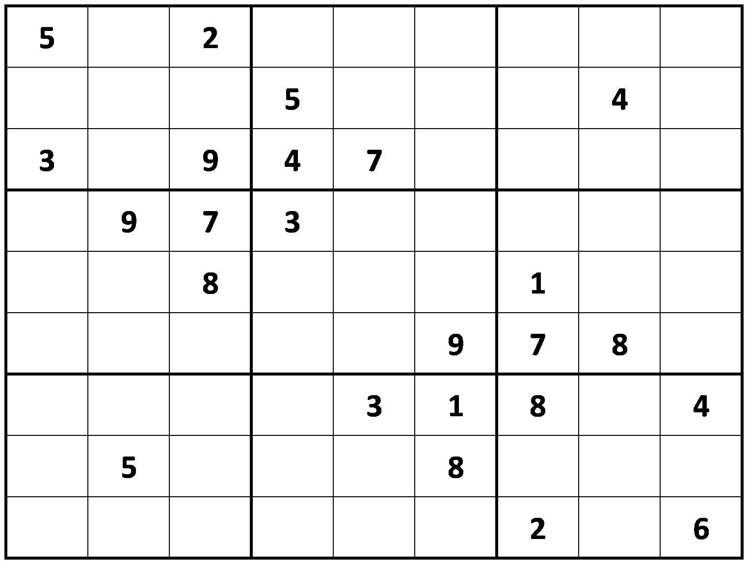 Sudoku Medium These sudoku puzzles are not