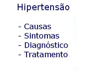 Hipertensão causas sintomas diagnóstico tratamento prevenção riscos complicações