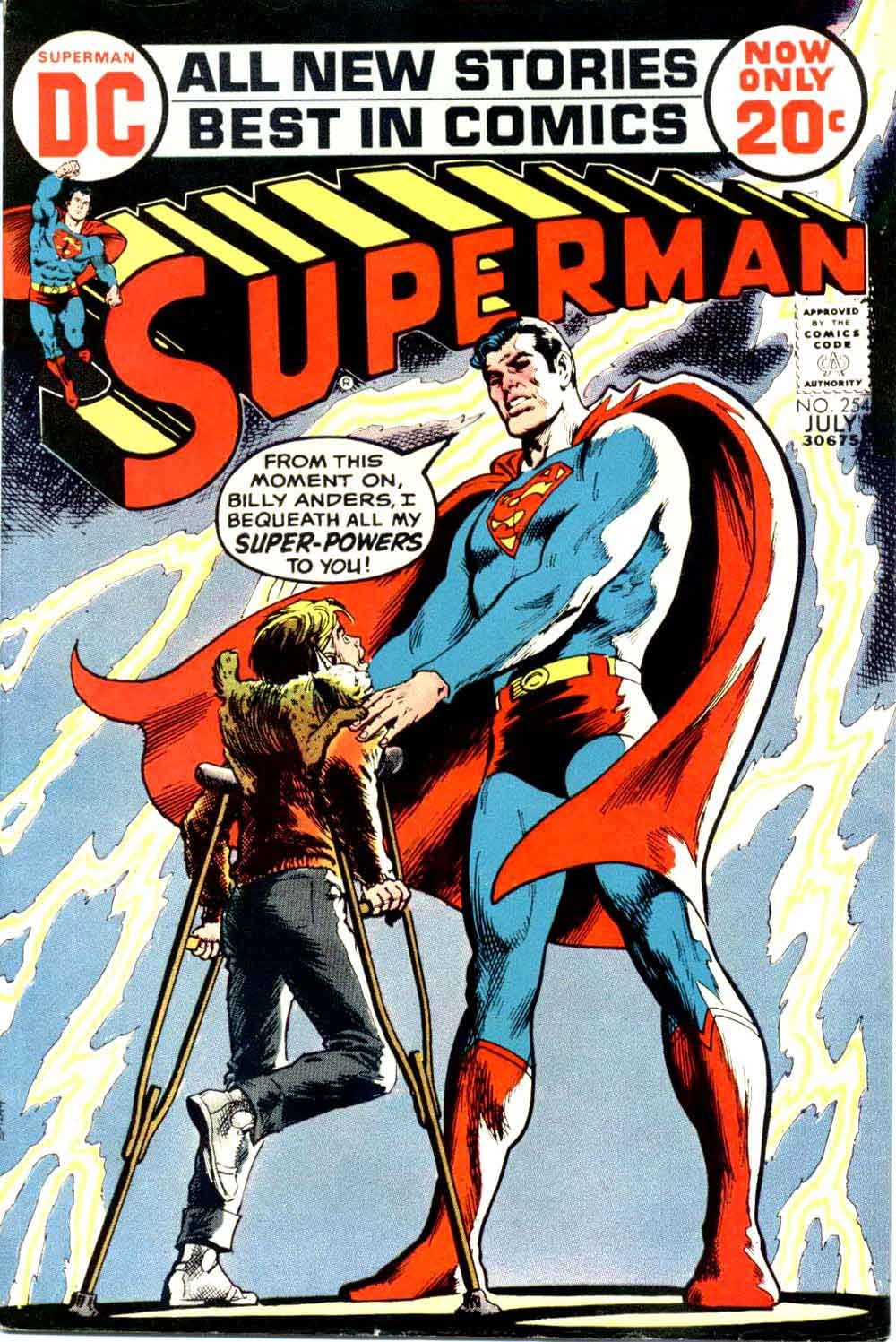 Superman v1 #254 dc comic book cover art by Nick Cardy