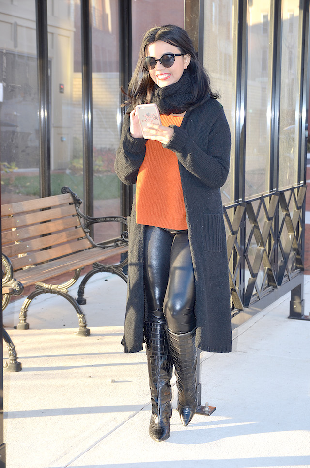 Monday Outfit - Mari Estilo - Fake Leather Outfits - Winter Style - Street Fashion