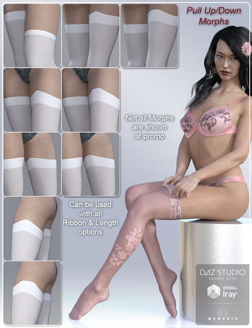 Morphing Stockings for Genesis 3 Female