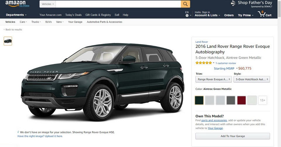 amazon close to start selling cars in europe. Black Bedroom Furniture Sets. Home Design Ideas