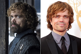 Game of Thrones actors with and without their beards,Tyrion Lannister/Peter Dinklage