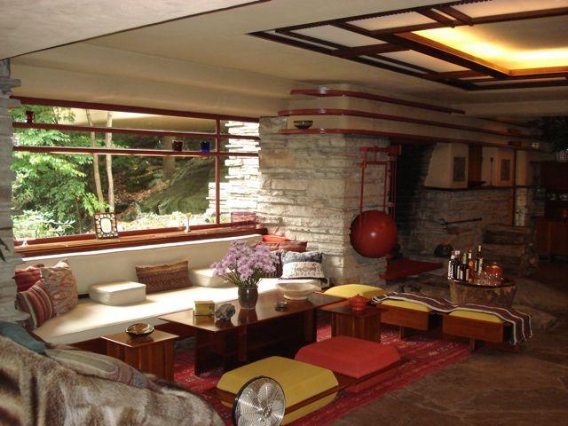 Fallingwater by Frank Lloyd Wright - Livingroom